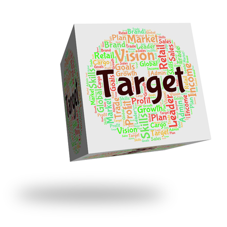 targetting: Target Word Showing Desired Result And Targetting