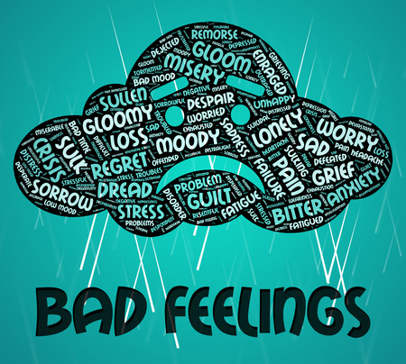 Bad Feelings Representing Ill Will And Devotion Stock Photo