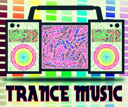 melodies: Trance Music Meaning Sound Tracks And Melodies Stock Photo