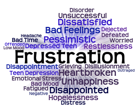 Frustration Word Indicating Irritated Wordclouds And Embittered