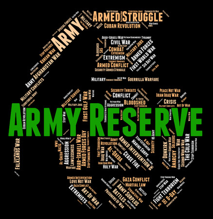 armed services: Army Reserve Representing Armed Force And Military