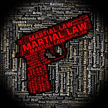 martial law: Martial Law Indicating Governor Crime And Warrior