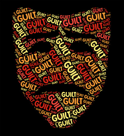 Guilt Word Representing Guilty Feeling And Words Stock Photo - 46111364