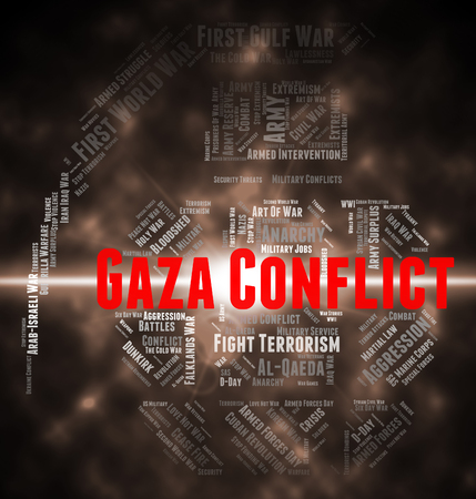 conflict: Armed Conflict Meaning Gaza Governorate And Wordclouds