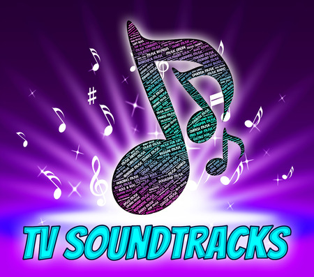recorded: Tv Soundtracks Showing Recorded Music And Harmonies Stock Photo