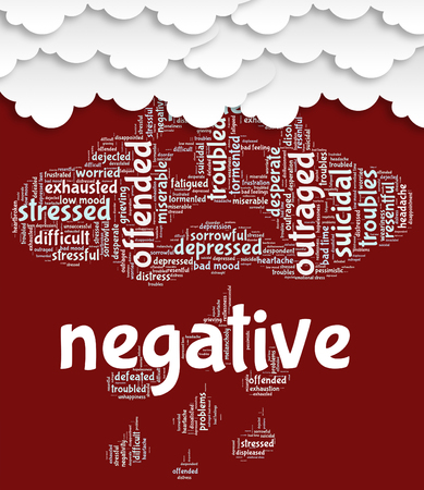 Negative Word Representing Rejecting Refuse And Negativity
