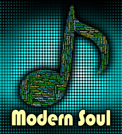 blues: Modern Soul Showing Rhythm And Blues And Twenty First Century Stock Photo