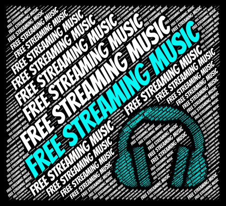soundtrack: Free Streaming Music Representing No Charge And Audio Stock Photo
