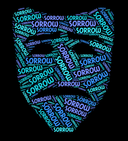despairing: Sorrow Word Showing Broken Hearted And Wordclouds