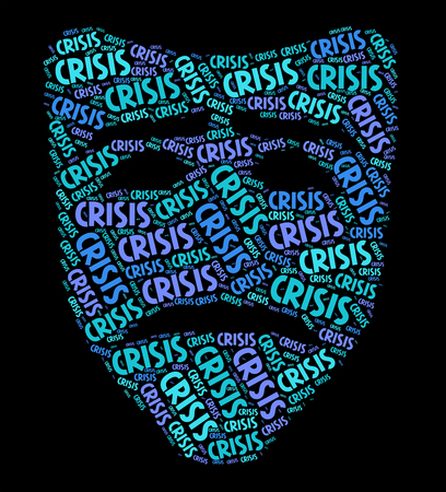 dire: Crisis Word Representing Hard Times And Emergency