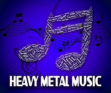 heavy metal music: Heavy Metal Music Representing Led Zeppelin And Rock