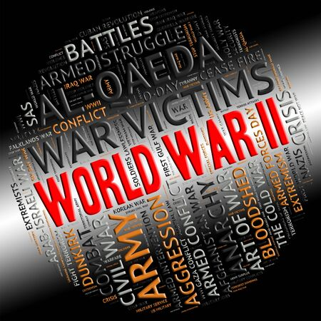 hostility: World War Ii Meaning Military Action And Hostility Stock Photo