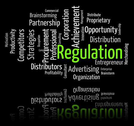 Regulation Word Showing Rule Guidelines And Ruling