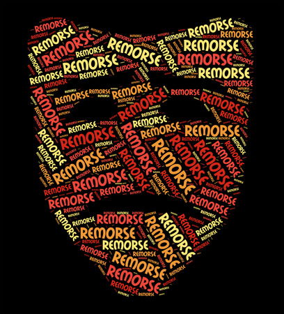 reproach: Remorse Word Representing Self Reproach And Feelings Stock Photo