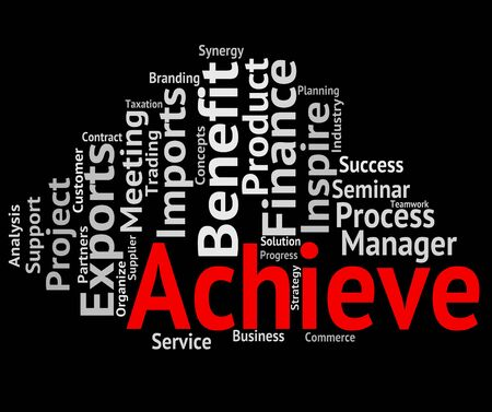 attainment: Achieve Word Meaning Achievement Success And Winner