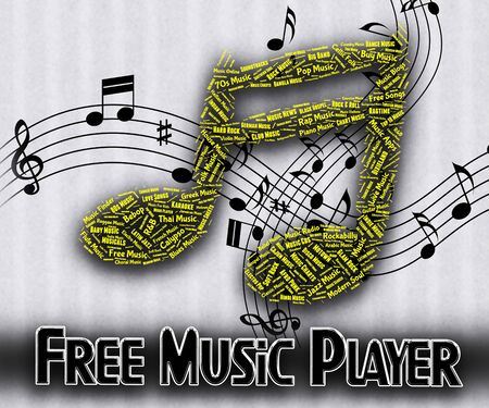 freebie: Free Music Player Indicating No Charge And Gratis Stock Photo