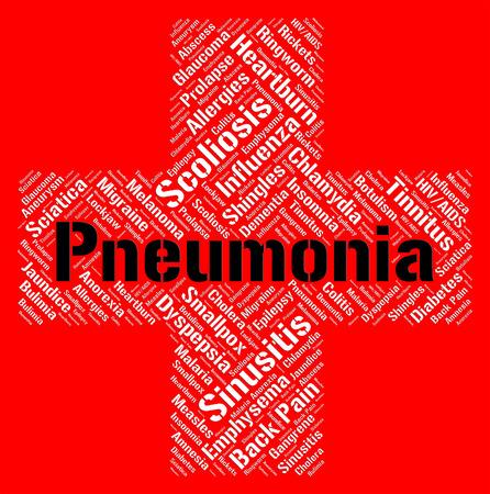 alveolos: Neumonía Palabra Significado mala salud y Desorden
