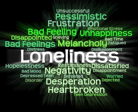 soledad: Soledad palabra que significa Unloved rechazado y Wordclouds