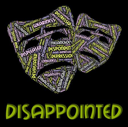 alicaído: Decepcionado Palabra Significado Let Down y deprimido