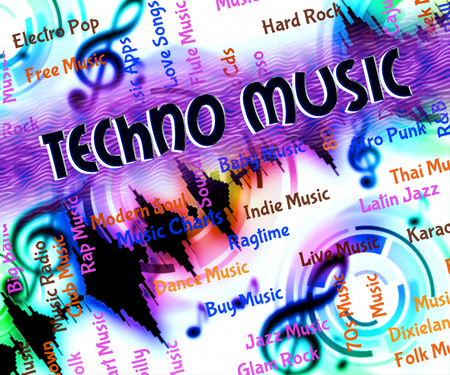 funk music: Techno Music Showing Sound Tracks And Song