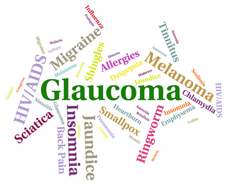 afflictions: Glaucoma Illness Indicating Poor Health And Afflictions Stock Photo
