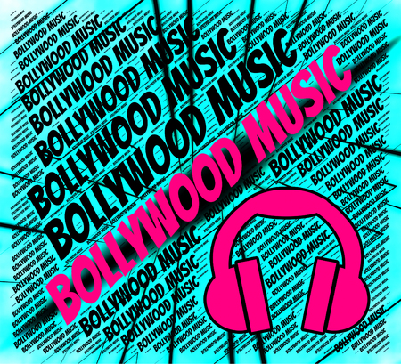 bollywood: Bollywood Music Showing Sound Tracks And Industry Stock Photo