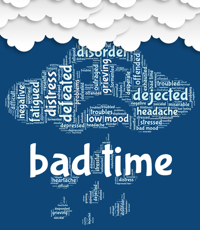 hard times: Bad Time Indicating Hard Times And Wordcloud