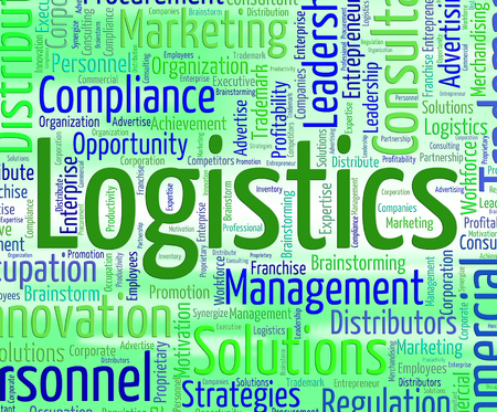 coordinating: Logistics Word Meaning Wordcloud Plans And Coordination Stock Photo