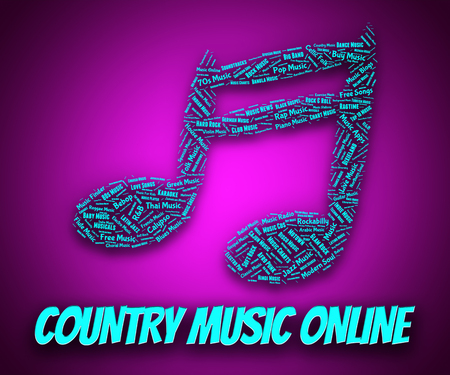 w c: Country Music Online Representing Sound Track And Www Stock Photo