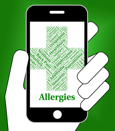 susceptibility: Allergies Problem Meaning Ill Health And Attack Stock Photo