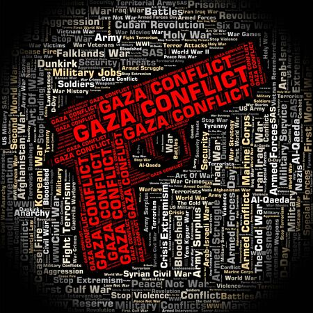 gaza: Armed Conflict Representing Gaza Governorate And Battle Stock Photo