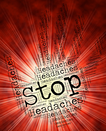 restriction: Stop Headaches Showing Warning Restriction And No