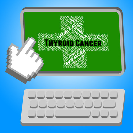 cancerous: Thyroid Cancer Representing Cancerous Growth And Infection Stock Photo