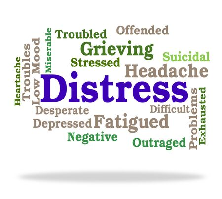 desperate: Distress Word Representing Torment Desperate And Desolation