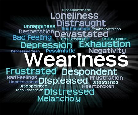 cansancio: El cansancio Palabra Significado Fatiga Cansado Y Agotamiento
