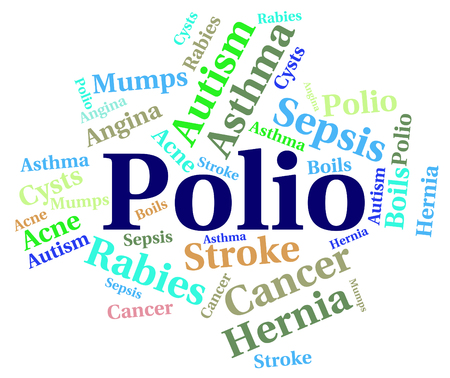 polio: Polio Word Indicating Ill Health And Disability