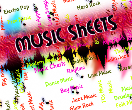 melodies: Music Sheets Showing Musical Symbols And Melodies