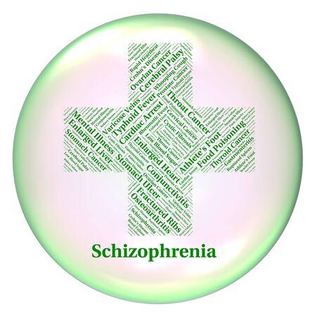 personalidad: Enfermedad Mental Indicando trastorno de la personalidad e indisposici�n Foto de archivo
