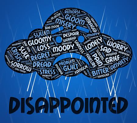 cabizbajo: Decepcionado significado de las palabras Let Down Y Crestfallen