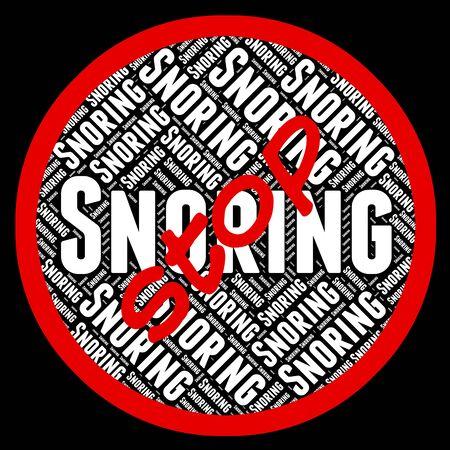 apnea: Stop Snoring Indicating Obstructive Sleep Apnea And Warning Sign