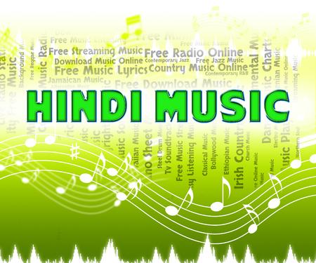 harmonies: Hindi Music Indicating Sound Tracks And Song Stock Photo