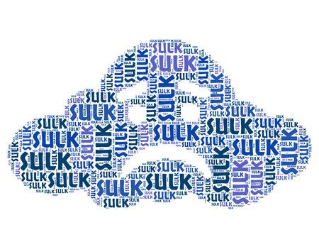 bad mood: Sulk Word Indicating Bad Mood And Wordcloud