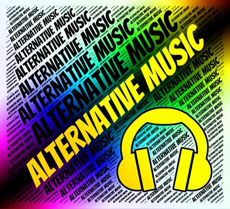 harmonies: Alternative Music Indicating Other Way And Harmonies Stock Photo