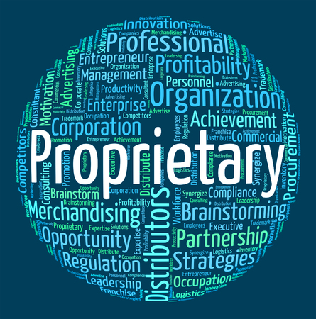 proprietary: Proprietary Word Indicating Wordclouds Wordcloud And Rights
