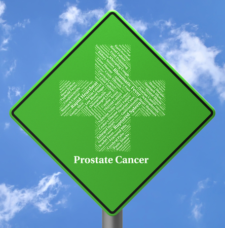 malignant growth: Prostate Cancer Representing Malignant Growth And Displays Stock Photo