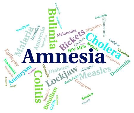 memory loss: Amnesia Illness Indicating Loss Of Memory And Memory Loss