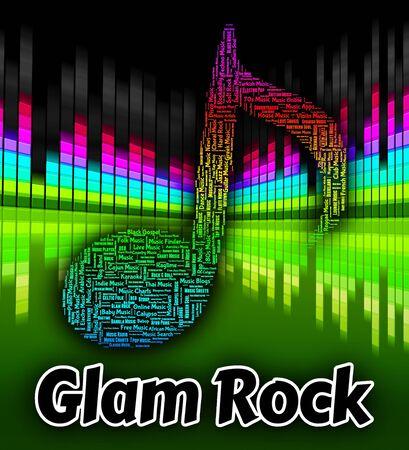 glam rock: Glam Rock Representing New Romantics And Harmony