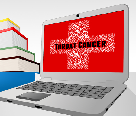 cancers: Throat Cancer Meaning Ill Health And Disorder Stock Photo