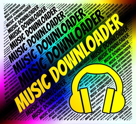 melodies: Music Downloader Representing Sound Tracks And Programs Stock Photo