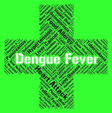 malady: Dengue Fever Indicating High Temperature And Afflictions